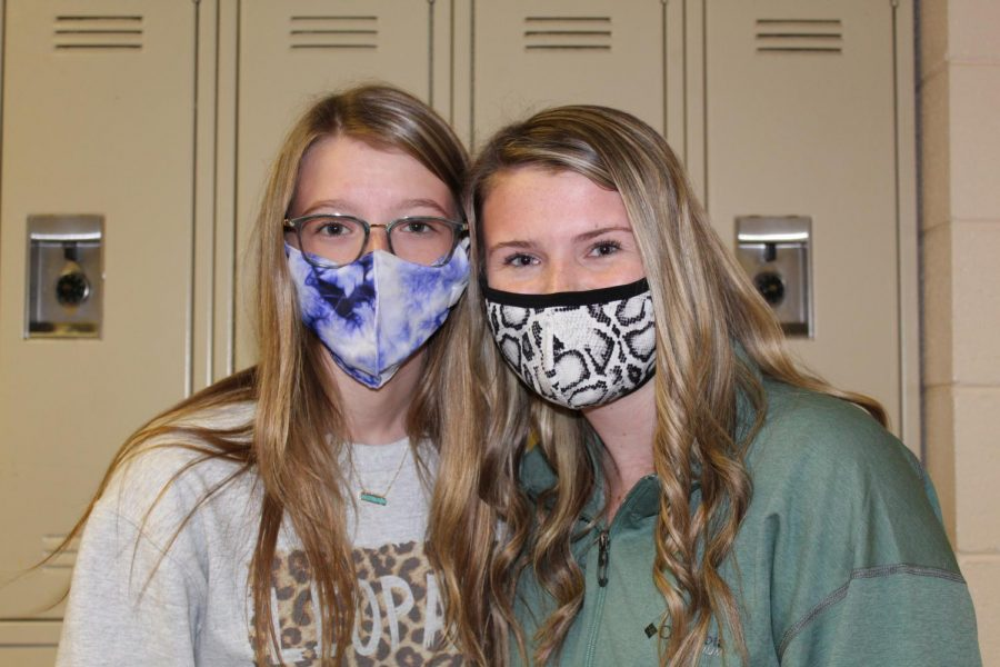 Freshmen take on the responsibility of wearing a mask.