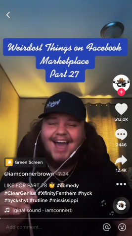 Senior Conner Brown discusses his series Weirdest things on Facebook Marketplace part-27 on TikTok.