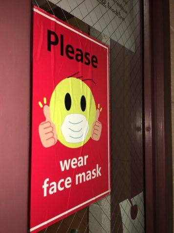 Teacher keeps mask sign up throughout 2021 school year.